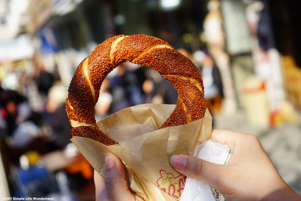 【土耳其熱氣球圓夢】土耳其必吃午茶點心 ♥ 平民傳統美食芝麻餅