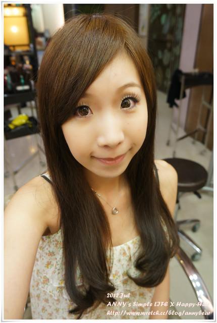 [髮型] 看起來髮質超好的深褐色 ♥ Happy Hair