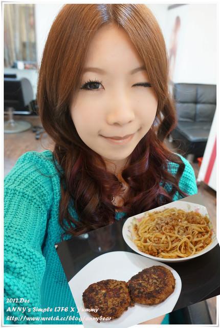 [食譜] 兩種都是我愛吃的 ♥ 漢堡排+肉醬義大利麵