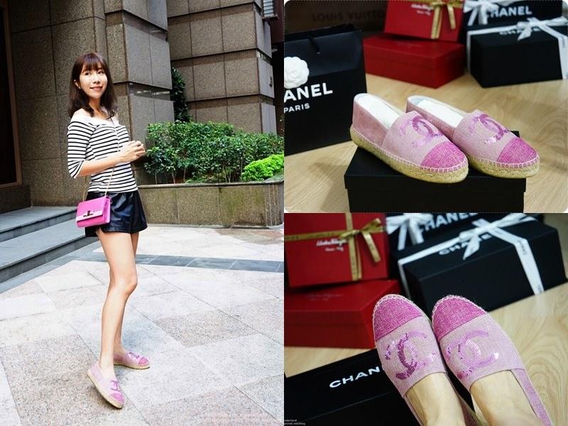 [精品] Chanel 草編鉛筆鞋 粉紅亮片 ♥ 潮流好物 絕對值得一買再買
