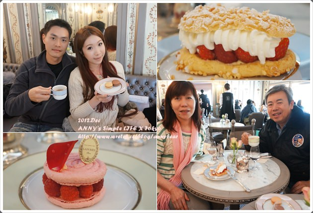【東京跨年自由行】銀座 Laudree下午茶 ♥ 正統少女酥胸的滋味